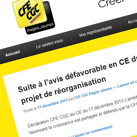 CFE CGC Pages jaunes